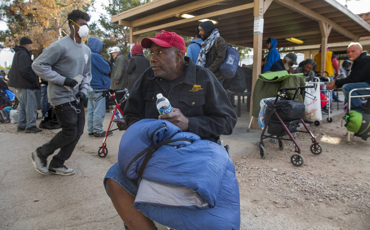 Ronald Tucker is concerned with the lack of social distancing for the homeless especially in th ...