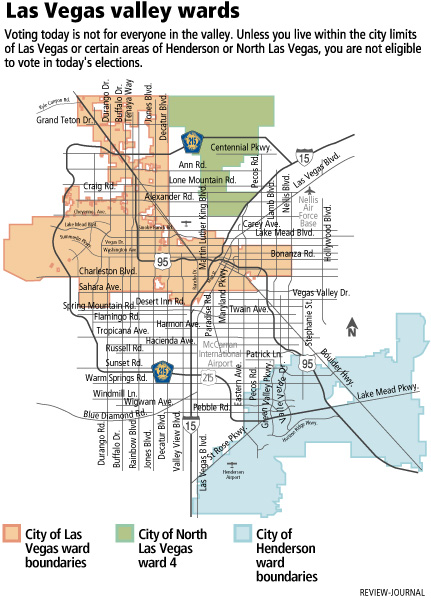 North Las Vegas Map Boundaries.Living In Cities A Must For Municipal Voting Las Vegas Review Journal