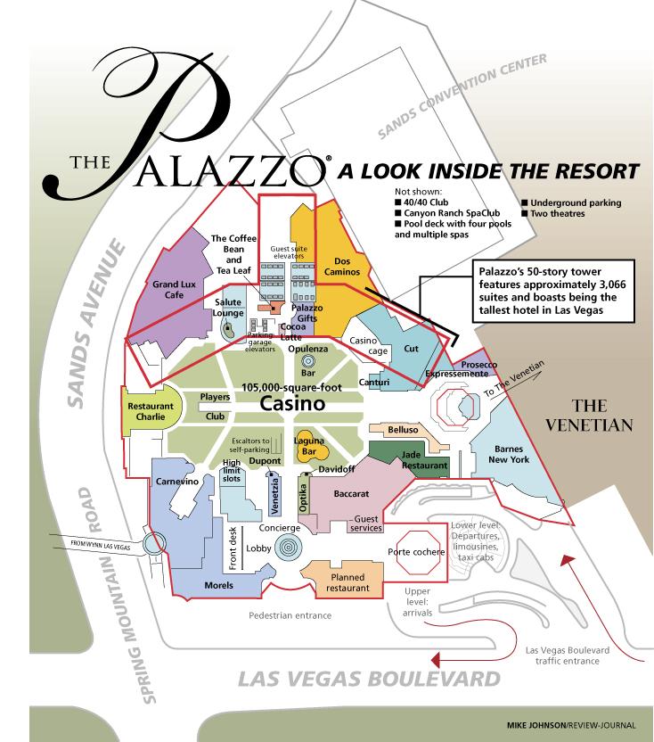 Palazzo Las Vegas Map On Strip  Virginia Map