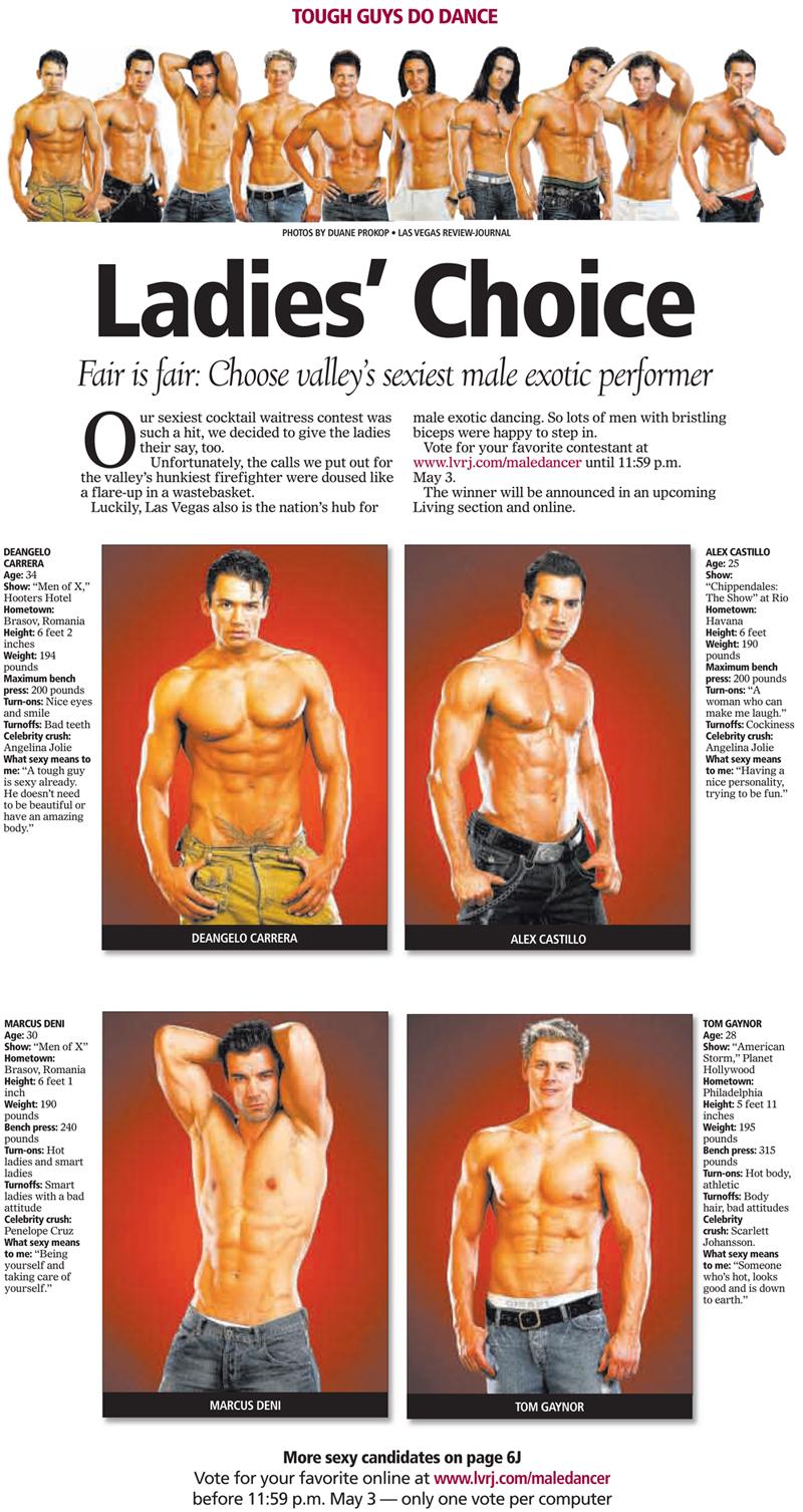 Choose Las Vegas Valley's sexiest male exotic performer | Las Vegas