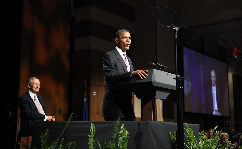 obama with reid1 070810