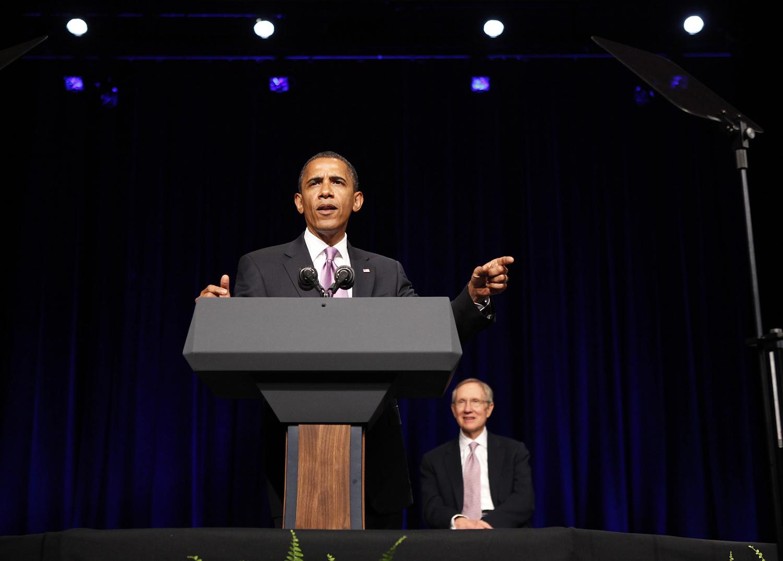 obama with reid2 070810