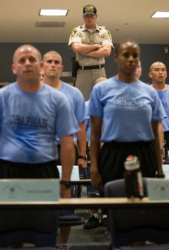 Police Academy Recruits Endure Harsh Road Las Vegas Review Journal