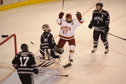 Denver University Hockey Player Zucker Adds Much Needed Muscle