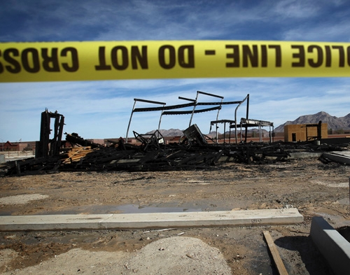 authorities investigate fire at muslim funeral home construction