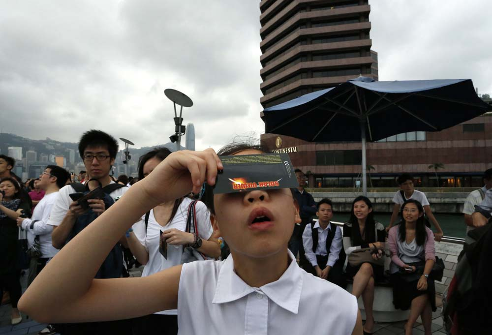 APTOPIX Hong Kong Ring of Fire Eclipse