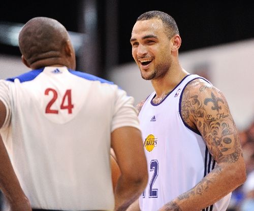 b5cd59c0646 Former Gonzaga center Sacre looks to stick with Lakers despite being final  pick