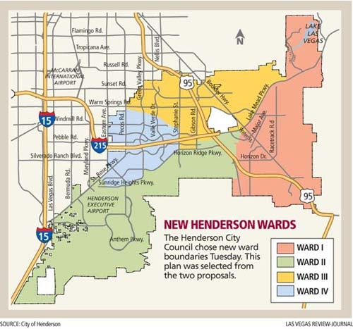 Henderson City Council revises ward boundaries Las Vegas Review