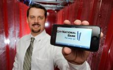 DAVID BECKER | LAS VEGAS BUSINESS PRESS <BR>Bryan Gour, vice president of business and technology services for City National Bank, stands among the bank's servers at Switch data center on No ...
