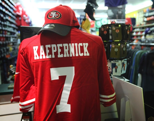 97b805bf2a1 Kaepernick jersey comes out of nowhere to be hot commodity