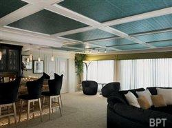 Decorative ceilings add style to a basement remodel