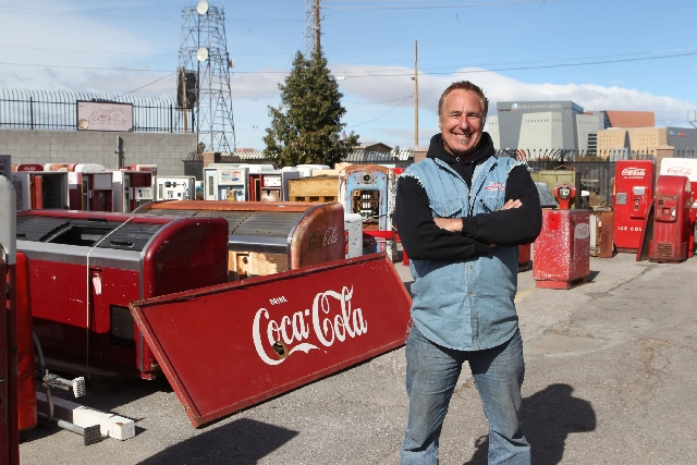 "Rick Dale of Rick's Restorations poses Jan. 29 in the ""boneyard"" at his business. On his History channel show, ""American Restoration,"" Dale restored an F-105 Thunderc ..."