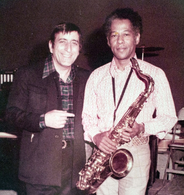Tony Bennett and Herb Hardesty in an undated photo.