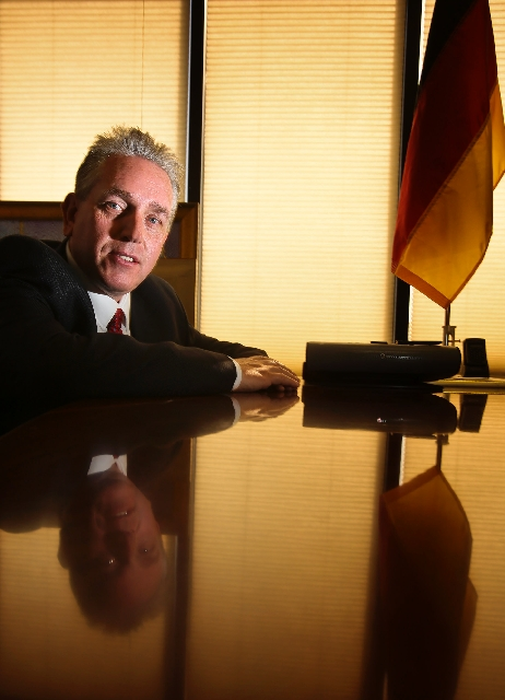 As honorary consul to Germany in Las Vegas, Andreas Adrian works to help the valley's 45,000 German-Americans. Though the job is unpaid, Adrian says it offers emotional satisfaction.