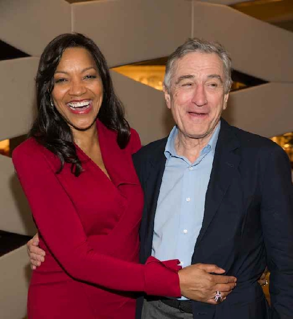 Robert De Niro was animated at Caesars' new Nobu when he was with wife Grace on Saturday.