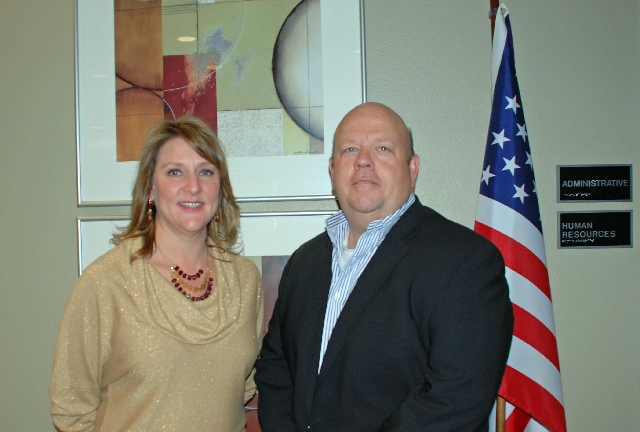 Ginny Lopez, director of career services at the Art Institute of Las Vegas, is pictured with Mark Garland, campus president.