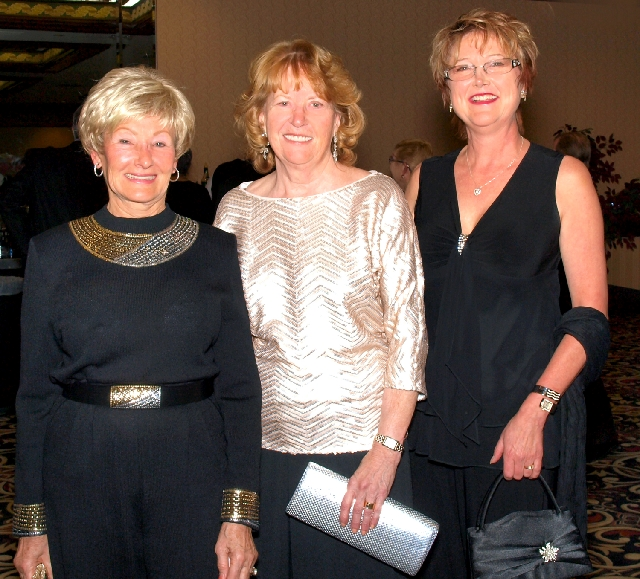 Bette Ault, from left, Arlene Mccroy  and Connie Macauley at the Mesquite Club benefit