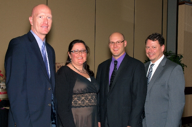 James Deany, from left, Celia Roberts, Rick Blanc and Pat Skorkowski at the Mesquite Club benefit