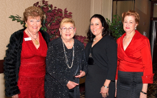 Joan Powell, from left, Lois Evora, Tammy Villarreal-Crabb and Cathi Poer at the Mesquite Club benefit