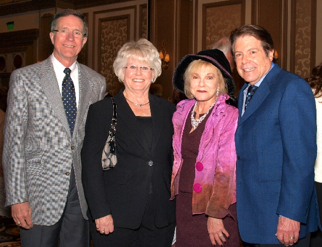 John and Jeanne Kilduff, from left, and Barbara Lee and Bruce Woollen at the Catholic Charities gala