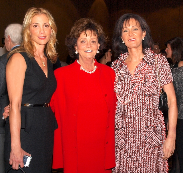 Teresa Fertitta, from left, Vicki Fertitta and Delise Sartini at the Catholic Charities gala