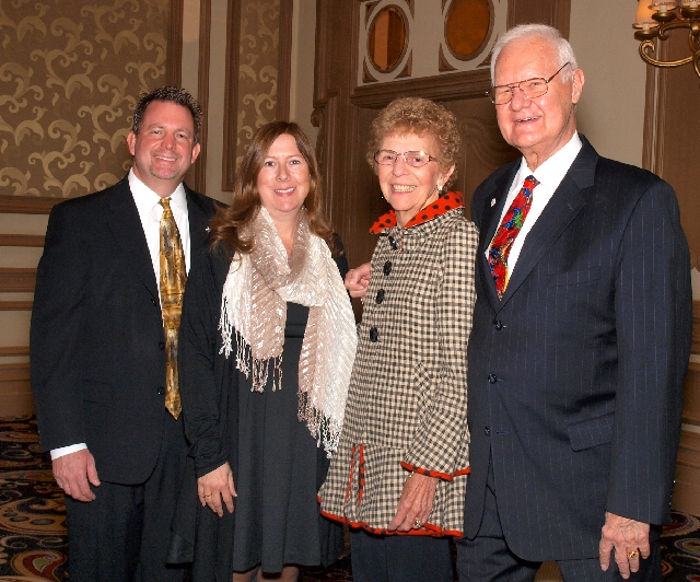 Tom and Karen Roberts, from left, Carolyn Leontos and Ed Skonicki at the Catholic Charities gala