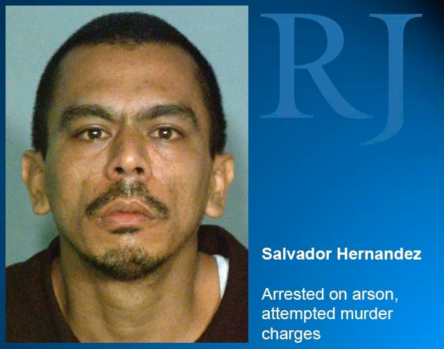 Booking photo of Salvador Hernandez, arrested in the investigation of a fire and two counts of attempted murder at Sonoma Shadows apartments.