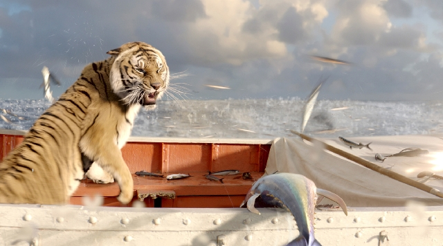 "Even if the fur didn't fly in ""Life of Pi,"" the fish surely did. The visuals made the movie engrossing and memorable."