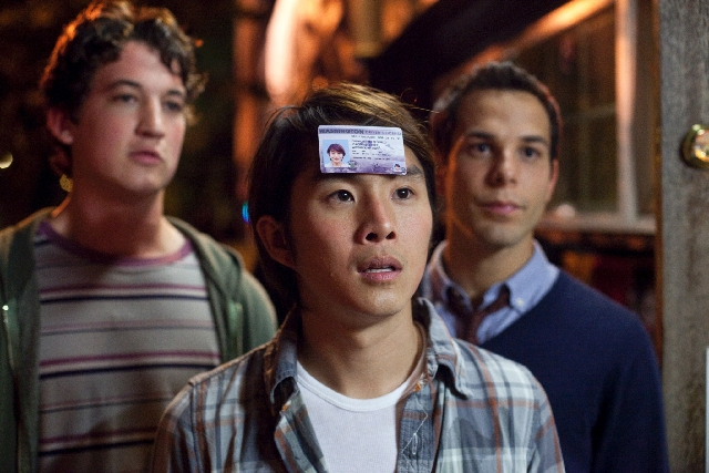 """Miles Teller, from left, Justin Chon, and Skylar Astin star in """"21 and Over."""""""