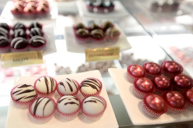 Kahlua balls and other sweet treats are among the offerings at Tipsy Coffee House at 6496 Medical Center Drive in the southwestern Las Vegas Valley. The shop offers many treats made with alcohol a ...