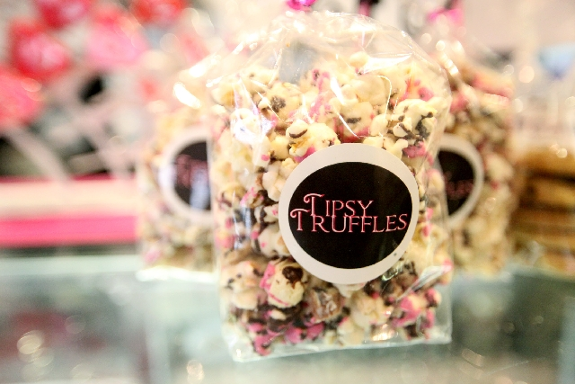 Candy-covered popcorn is among Tipsy Coffee House's sweet offerings.