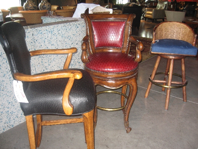 Barstools with backs provide more comfort and ease than those without.