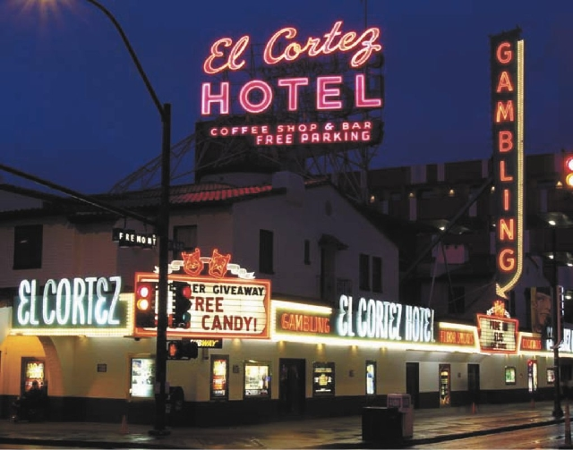 Las Vegas' oldest continuously operating casino, the El Cortez, is shown at the corner of Fremont and 6th streets in Downtown Las Vegas. The National Register of Historic Places recently lis ...