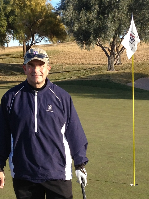 Kevin Favreau takes a break Dec. 22, 2012, at TPC Summerlin. He is the new executive director of First Tee of Southern Nevada, a nonprofit that teaches youths responsibility and integrity through  ...