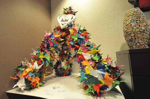"""Inspired by """"Sadako and the Thousand Paper Cranes,"""" Robinson Middle School seventh-graders folded 1,000 paper cranes and donated them to the Children's Hospital of Nevada at the  ..."""