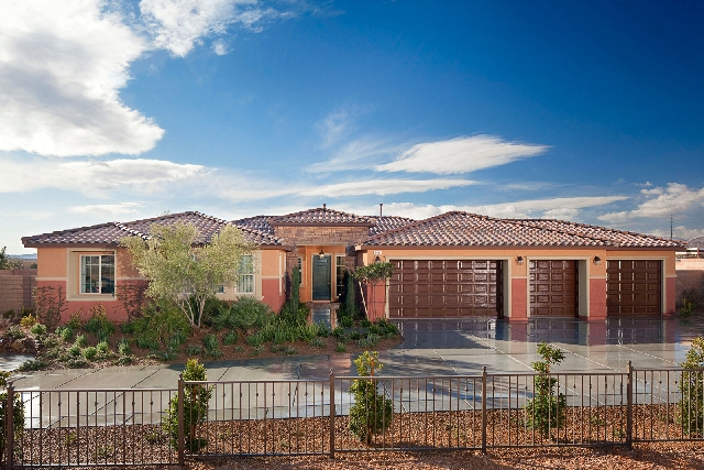 The 3,420-square-foot, single-story Plan Two is the model home at Pardee Homes' Durango Ranch.