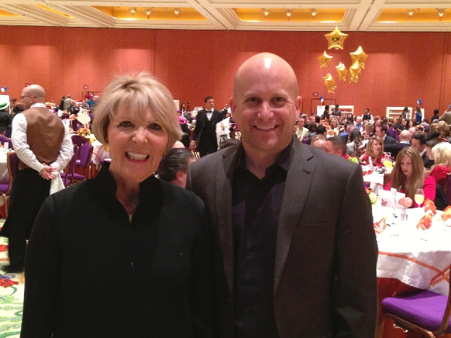 Florence Shapiro and Ivan Sher attend Thursday's Prudential Americana Group sales event. For the sixth year in a row the team was ranked No. 1 on the company's top 10 list of residenti ...