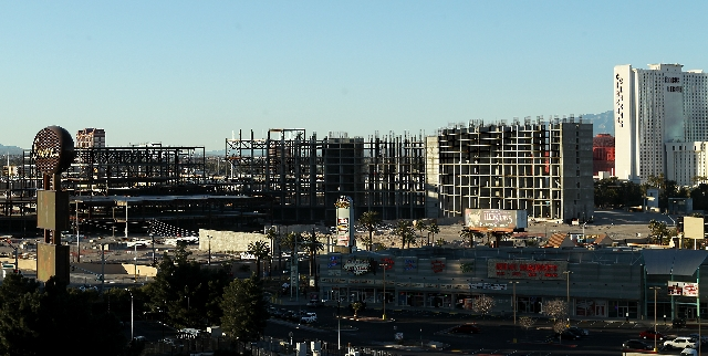 The Echelon property as seen from the Encore parking garage March 1. Boyd sold the 87-acre site for $350 million to the Genting Group.