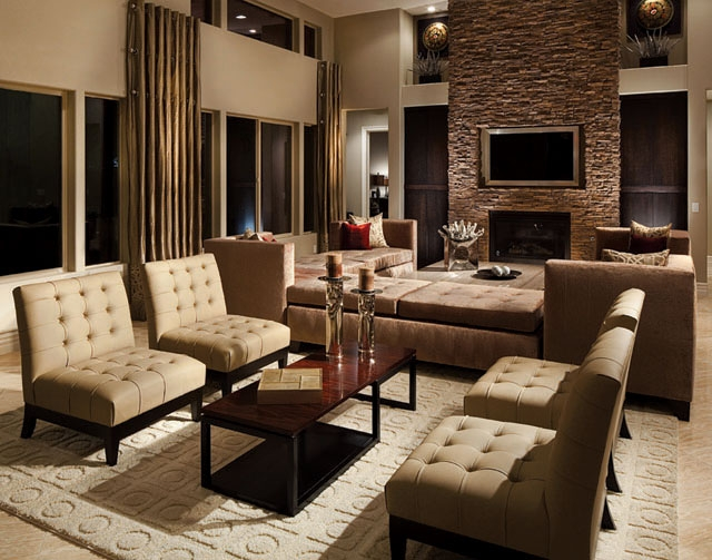 This 3,876-square-foot model home is showcased in Harmony Homes' Canyon Falls neighborhood in southwestern Las Vegas.