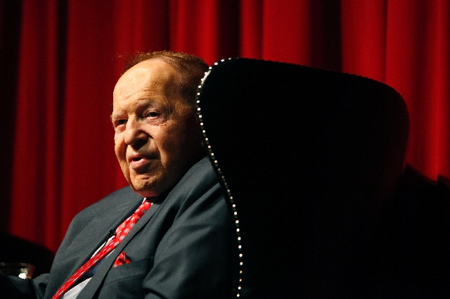 """Sheldon Adelson leads Las Vegas Sands Corp., which called """"a headline"""" about the company in Sunday's New York Times """"inflammatory and defamatory."""""""