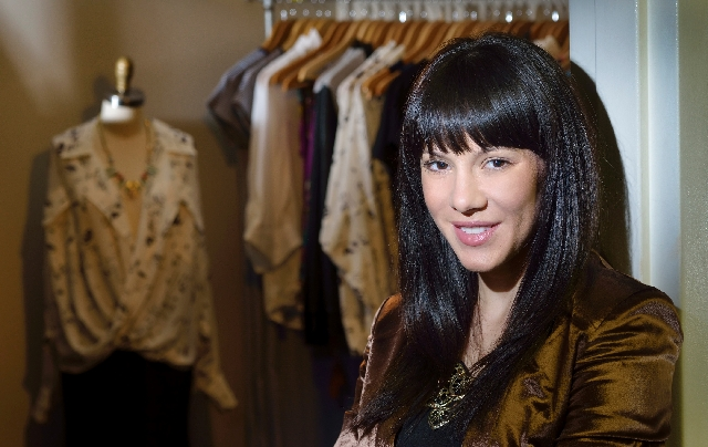 Daniella Capitano, owner and stylist at American Vagabond, poses at her office.