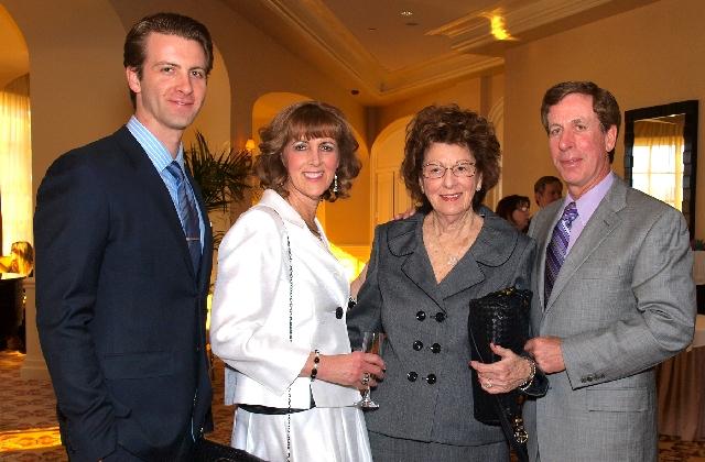 Ryan Hamilton, from left, Tina Hamilton, Ruth Brewster and Craig Hamilton at Tzedakah event