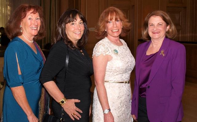 Karen Gordon, from left, Judy Kaye, Sharon Walker and Emily Perlman at Tzedakah event