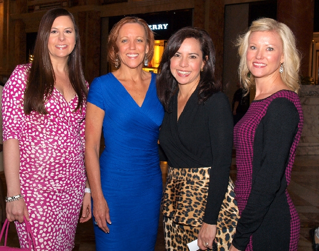 Wendy Albert, from left, Lynn Vaughn, Angel Williams and Carrie Cothron at Luxury event