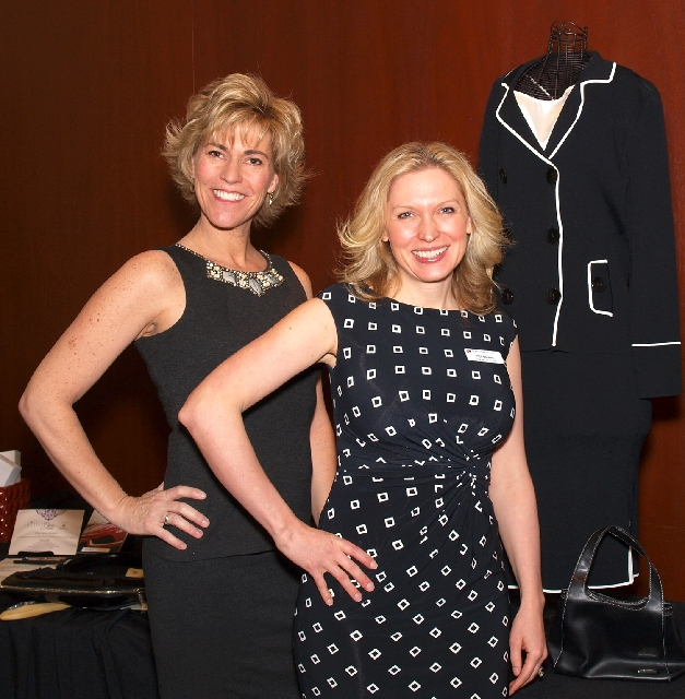 Paula Lawrence, left, and Jodi Simard at Luxury event