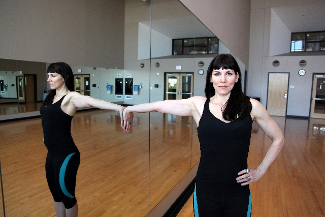 BICEPS STRETCH, ACTION: Turn the torso away so the body is perpendicular to the wall. Hold the stretch for 20 seconds and return to the starting position. Perform the stretch once ortwice. I ...