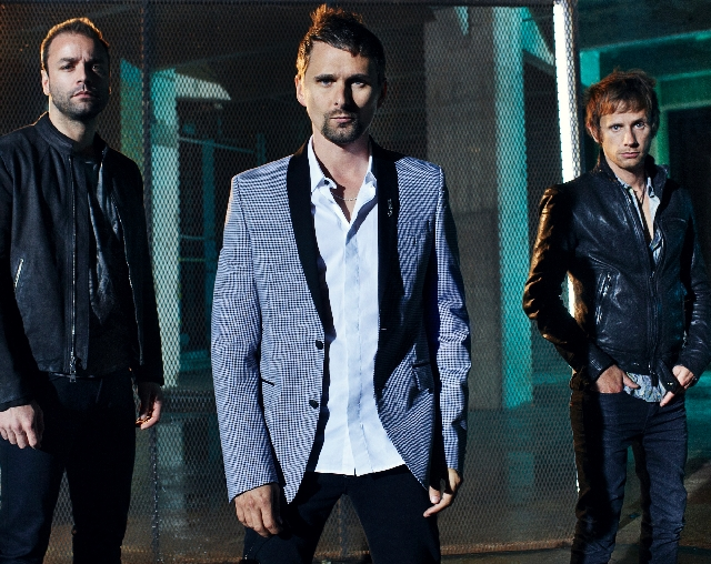 Muse, from left, Christopher Wolstenholme, Matthew Bellamy and Dominic Howard, performed Sunday at Mandalay Bay Events Center.