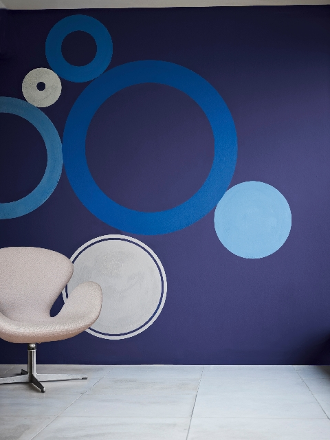 Indigo blue, a deep rich blue, was singled out by Glidden paints as a color to be noticed this year.