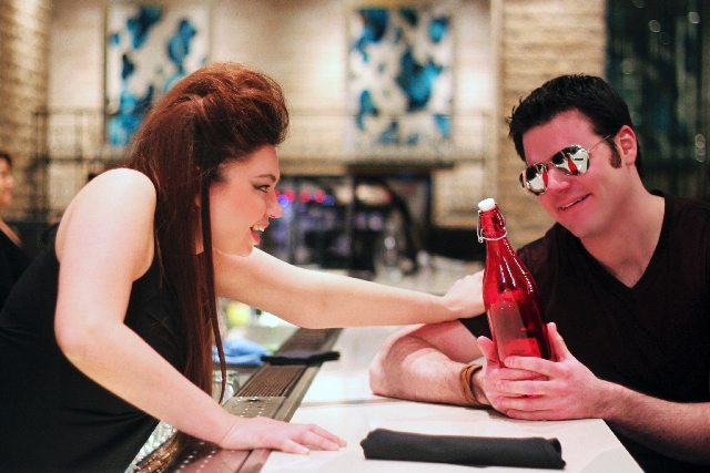 """Jonathan Mancheni plays Nemorino and Isabella Ivy is Adina in UNLV Opera Theater's updated """"The Elixir of Love,"""" set for this weekend."""