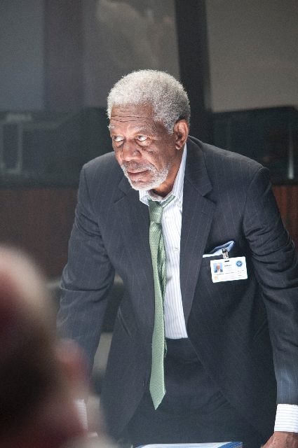 """Morgan Freeman is one of three Oscar winners in the supporting cast for  """"Olympus Has Fallen."""" All this talent, though, can't lift the movie above banal."""